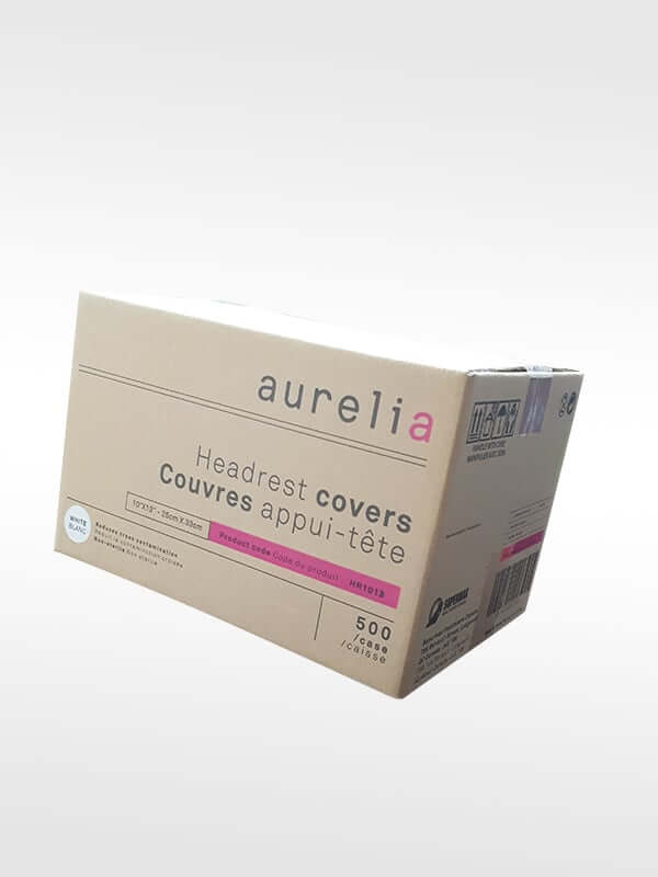 Aurelia Gloves Canada Poly coated Headrest Covers Box